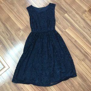 Mikarose Dresses - Mikarose Navy Midi Dress